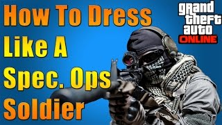 getlinkyoutube.com-GTA 5 Online - How To Dress Like A Spec Ops Soldier (with Afghan Scarf)