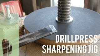 getlinkyoutube.com-DIY Drillpress sharpening jig prototype (Part 1)