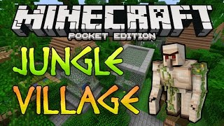 getlinkyoutube.com-JUNGLE VILLAGE w/ Mineshaft! Minecraft Pocket Edition Seed