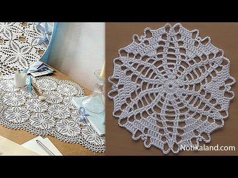 CROCHET doily Tutorial Pattern Crochet Motif How to crochet doily Part 5 Border 1 round