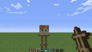 minecraft วิธีทำหัว skin 1.8