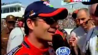 getlinkyoutube.com-2004 Advance Auto Parts 500 - Jeff Gordon hits hole in track