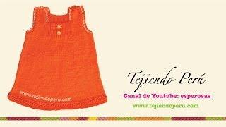 getlinkyoutube.com-Vestido sin mangas tejido en dos agujas para niñas de 3 a 4 años