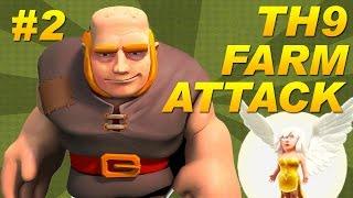 getlinkyoutube.com-BEST Town Hall 9 (TH9) Farming Attack Strategy -Giants + Healers -Dark Elixir -Clash of Clans #2