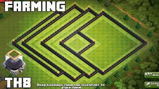 getlinkyoutube.com-Clash of Clans - AMAZING TH8 FARMING BASE 2015! EASTERN TEASER! [Arrow]