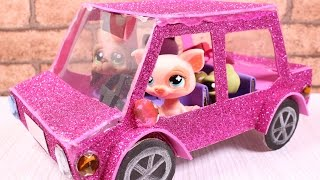 getlinkyoutube.com-DIY How to make Doll Car / LPS Car