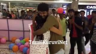 getlinkyoutube.com-VJ Rio Raj Surprises His Fiancé Sruthi Birthday | Saravanan Meenatchi Actor Family