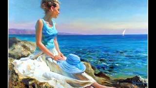 SHE THOUGHT ABOUT SEA WITH LOVE-- VLADIMIR VOLEGOV- RUSSIAN PAINTER  A C