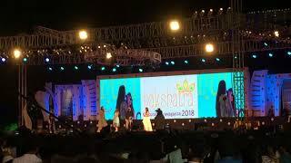 Dhanalakshmi srinivasan engineering college..the film actress Andreya's entry in Nakshatra 2018