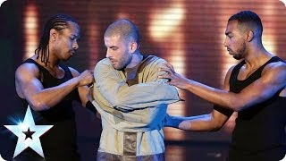 getlinkyoutube.com-Darcy Oake's Jaw-dropping escape | Britain's Got Talent 2014 Final