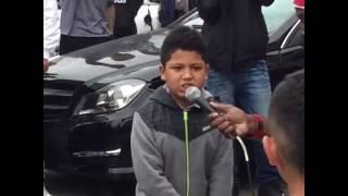 little kids rap battle at car show
