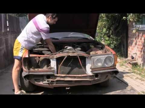 Восстанавливаем Mercedes w123 230E видео 3, снятие фары и передних крыльев Car Tuning Mercedes 123