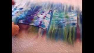 getlinkyoutube.com-Nuno Felting, felting a silk scarf