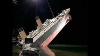 Titanic   Ship Break Up In Miniature (Making Of The Titanic Movie)
