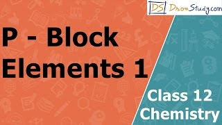 P - Block Elements | Class 12 XII Chemistry | CBSE | IIT-JEE | AIPMT