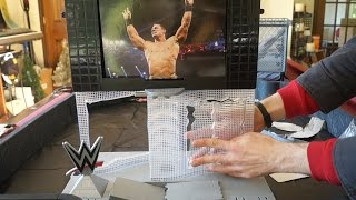 getlinkyoutube.com-WWE Ultimate Entertainment Stage Toy Playset Unboxing, Comparison & Review!!