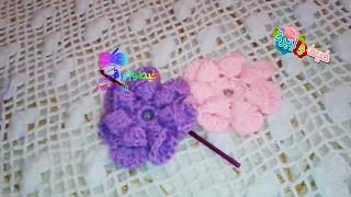getlinkyoutube.com-ورده البتلات المطويه بالكروشيه  \خيط وابره \ to Crochet Loosely Folded Petal Flower