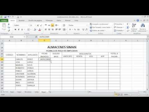 Excel plantilla para control de pagos nomina proveedores y for Plantilla nomina