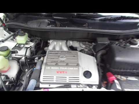 Работа двигателя 1MZ на машине Toyota Harrier Lexus RX 300 MCU15