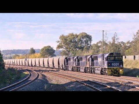 Pacific National Coal Train with 90 Class Locomotives - PoathTV Australian Railways & Railroads