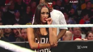 WWE RAW Nikki Bella vs Emma 11/3/14