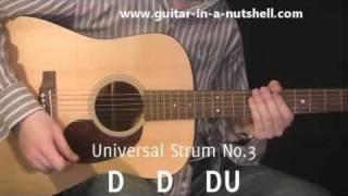 getlinkyoutube.com-Guitar Lessons - My Top 3 Guitar Strums!