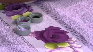 getlinkyoutube.com-Mulher.com 11/07/2014 - Pintura Rosa Toalha de Rosto por Ana Laura Rodrigues - Parte 1