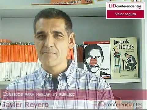 «Hablar en público es siempre una oportunidad única» por Javier Reyero