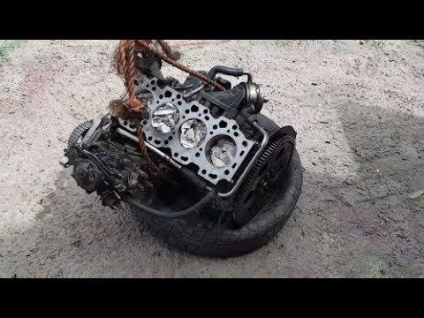 Town Ace 3CT дизель, Часть 6 установка мотора, после капиталки замена сальника на автомате