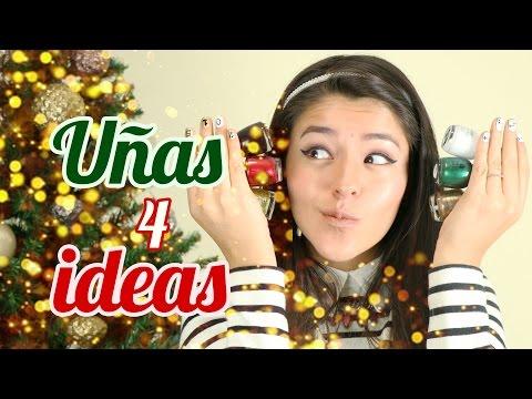 4 IDEAS DE UÑAS PARA NAVIDAD Y AÑO NUEVO | UÑAS DECORADAS CON ESMALTE | MUSAS