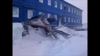 getlinkyoutube.com-Метель Бованенково 2013/Storm Bovanenkovo gas field