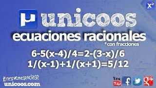 Imagen en miniatura para Ecuacion racional con fracciones 01
