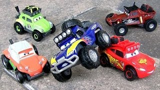 getlinkyoutube.com-Cars RS500 1/2 Idle Threat, Shifty Sidewinder, Blue Grit, Off-Road RadiatorSprings500 ToyCollector