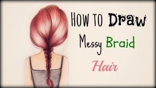 getlinkyoutube.com-Drawing Tutorial ❤ How to draw and color Messy Braid Hair