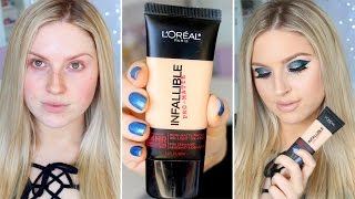 getlinkyoutube.com-First Impression Review ♡ L'Oreal Infallible Pro-Matte 24HR Foundation