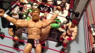 getlinkyoutube.com-GTS WRESTLING: Smell in a Cell! WWE Mattel elite action figure matches animation Championship match