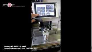 getlinkyoutube.com-Thermoplan Black & White 3 BW3 CTM CTS3 Coffee Machine Bean To Cup + Milk Fridge