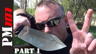 getlinkyoutube.com-Big Bag O' Blades 2 pt 1: Survival Knives, Bushcraft Knives, Axes, and More!