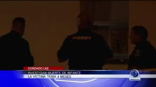 Investigan muerte de infante en el Condado Lee