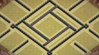 getlinkyoutube.com-Clash of clans: TH9 ClanWar Base - (Anti Hogs/Anti Dragons)