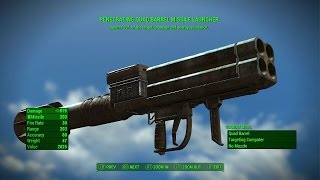 getlinkyoutube.com-Fallout 4 - PENETRATING MISSILE LAUNCHER (Rare Legendary Missle Launcher)