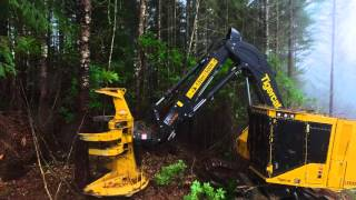getlinkyoutube.com-Tigercat LX830D feller buncher in Oregon
