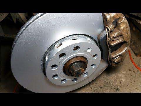 Замена передних тормозных дисков Ауди А6 С5