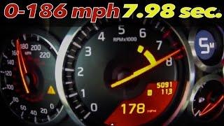 getlinkyoutube.com-Nissan GT-R Alpha Omega: BRUTAL 0-186 mph =  7.98 sec. [0-100mph = 3.03]