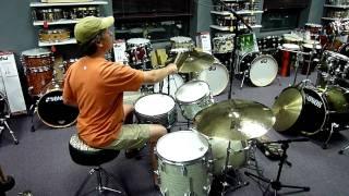 "getlinkyoutube.com-Zildjian K Dark Thin 14"" Hats, 19"" Crash Ride & 22"" Ride - 2011 Rarities"