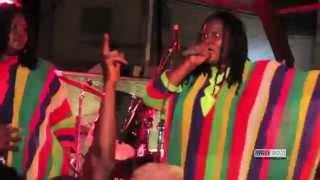 En colère ... Sista Mam demande la libération de Kidal, lors du Memorial Bob Marley 2014