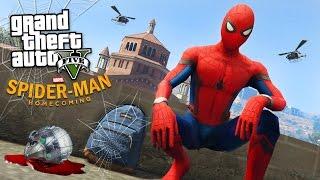 getlinkyoutube.com-SPIDER-MAN: HOMECOMING!! (GTA 5 Mods)
