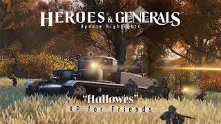 Heroes & Generals - 'Hallowes - XP for Friends' Frissítés