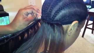 getlinkyoutube.com-Removal and Reinstallation of 6 Month Old Full Sew In With No Hair Left Out