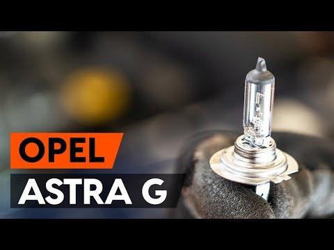 Как заменить лампочку главной фары OPEL ASTRA G CC (F48, F08) (ВИДЕОУРОК AUTODOC)